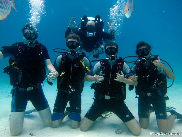 Phuket open water diver course